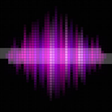 square dancing: Pink and violet music background