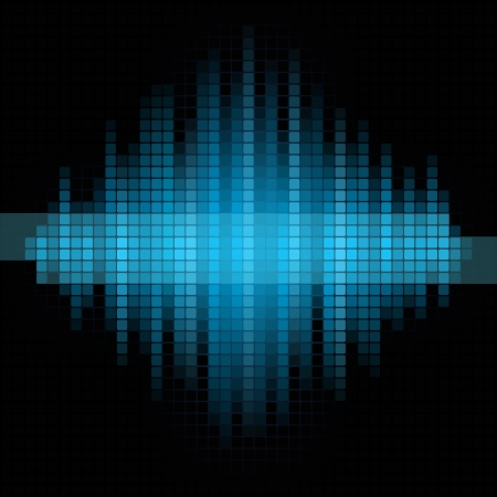 Blue music mosaic background   Vector
