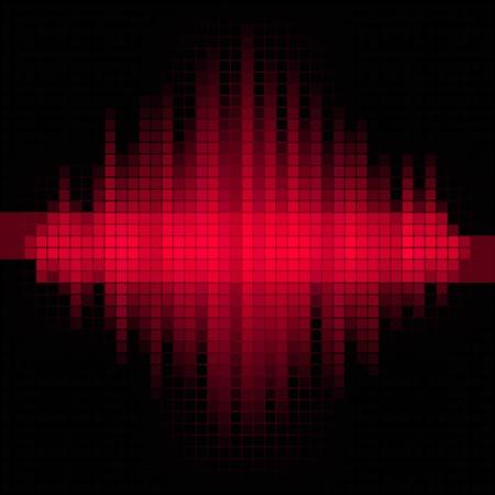 赤い音楽のモザイクの背景  イラスト・ベクター素材