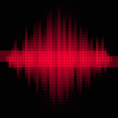Red music mosaic background   Stock Illustratie