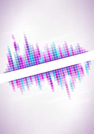 Vertical light music mosaic background   Vector