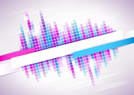 Horizontal light music mosaic background   Vector