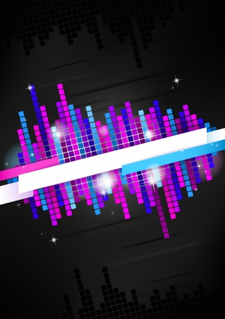 Vertical dark music mosaic background   Vector