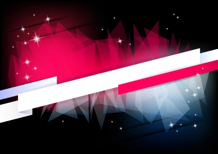 Horizontal music background with stars and place for text