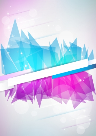Vertical light music background with stars and place for text