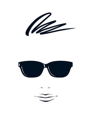 stylish boy: Portrait of young man in black sunglasses