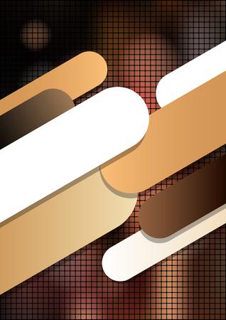 グラフィック要素と垂直モザイク茶色の背景