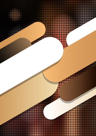 Vertical mosaic brown background with graphic elements