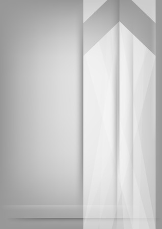 Abstract white arrow on grey vertical background