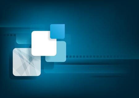 overlay: Abstract horizontal blue background with graphic elements