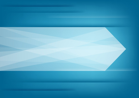 Abstract white arrow on blue background