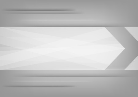 Abstract white arrow on grey background   Illustration