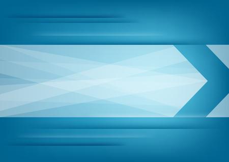 파란색 가로 배경에 추상 흰색 화살표