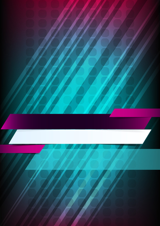 music dj: Vertical music background with lines and place for text    Illustration