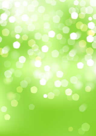 Vertical green blurred background with graphic elements