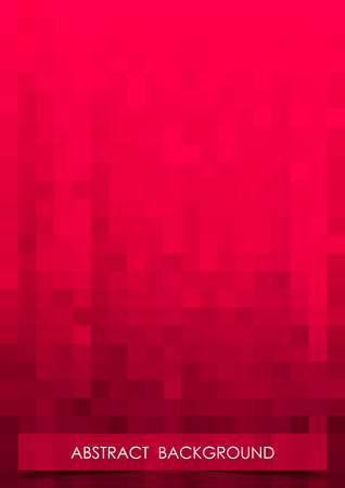 Vertical red mosaic music party background. Illustration