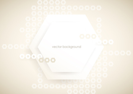 Horizontal light gray abstract background with hexagons.
