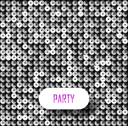 Square black and white mosaic music party background with stars.