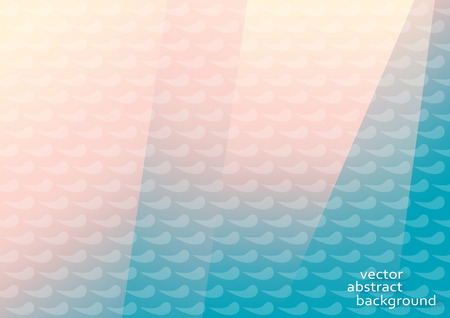 Horizontal pink and blue background with waves. Illustration