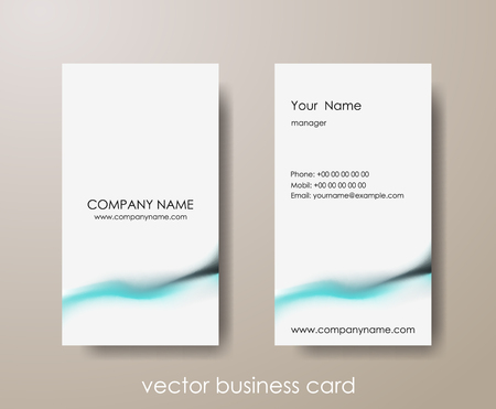 Set of light vertical abstract business cards on gray background. Illustration