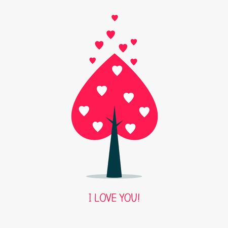 Heart tree icon.