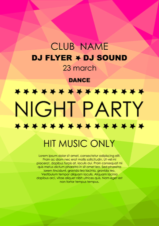 Vertical colorful mosaic music party background with place for text.