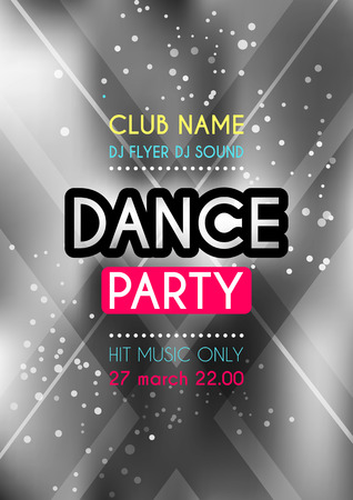 Vertical dance party background with graphic elements and place for text.
