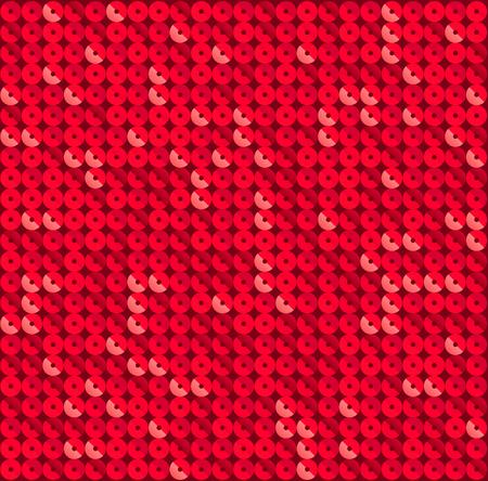 赤色のモザイク ディスコ パーティー バック グラウンドを正方形します。