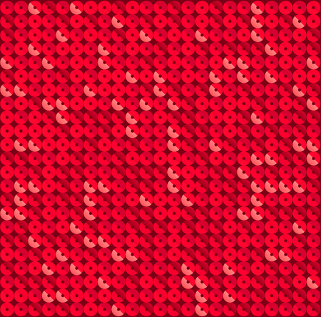 Square red mosaic disco party background. Stock Illustratie