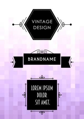 Label design template. 向量圖像
