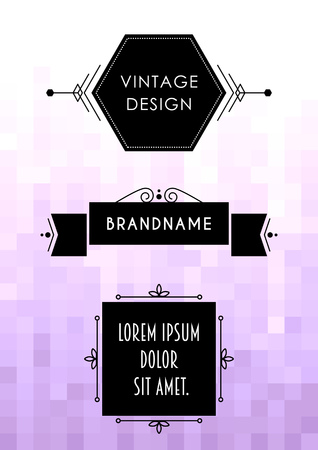 Label design template. Stock Illustratie