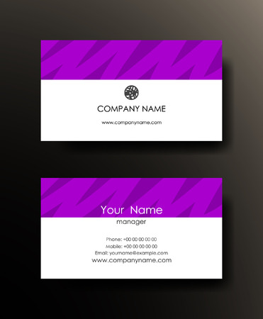 Business card template design.