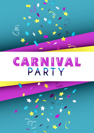 Vertical carnival party banner design.