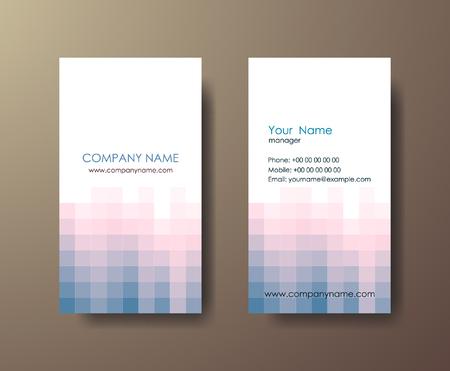 灰色の背景にモザイク光の垂直抽象的なビジネス カードのセットします。  イラスト・ベクター素材