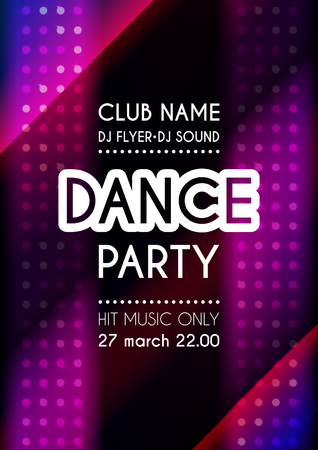 Vertical dance party colorful background with mosaic and place for text. 向量圖像