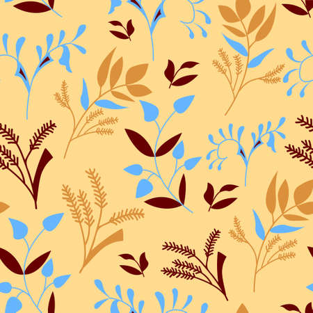 botanic: Vector pattern. Seamless botanic texture, detailed floral background.