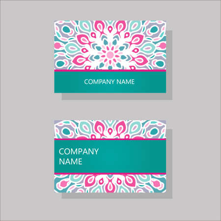 business cards: Vector vintage business cards.