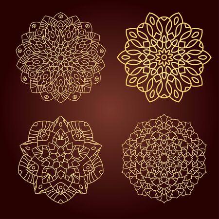 mandalas: Mandalas. Set of ethnic decorative elements.