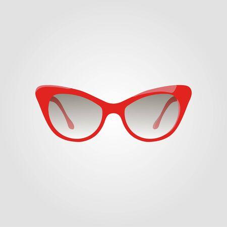 Fashion sunglasses Cats Eye. Vector illustration. Illustration