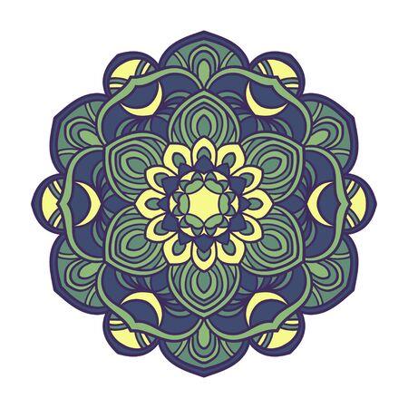 dcor: Mandala. Ethnic decorative element. Hand drawn backdrop. Islam, Arabic, Indian, ottoman motifs. Boho style.
