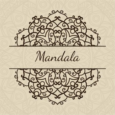Hochzeitseinladung Oder Grusskarte Mit Floral Mandala Platz Fur