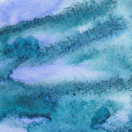 Watercolor paints on a rough texture paper. Watercolor paper texture for background. Vector illustration.