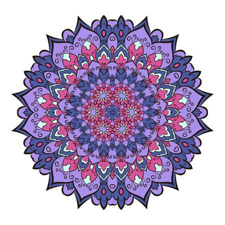 mystic: Mandala. Ethnic decorative element. Hand drawn backdrop. Boho style.