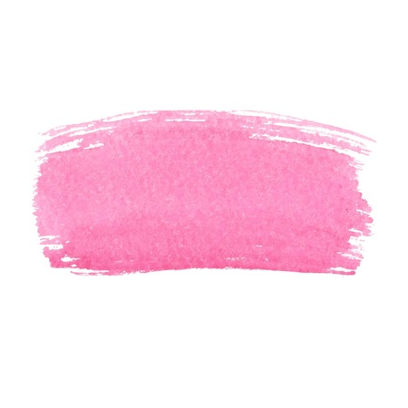 Pink abstract watercolor brush strokes painted background. Texture paper. Vector illustration. Standard-Bild