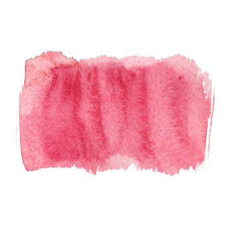 Red abstract watercolor brush strokes painted background. Texture paper. Vector illustration.