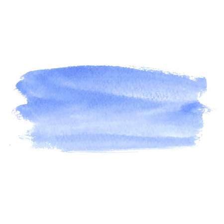 Blue abstract watercolor brush strokes painted background. Texture paper. Vector illustration. Illustration