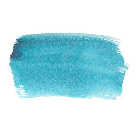 Turquoise abstract watercolor brush strokes painted background. Texture paper. Vector illustration.
