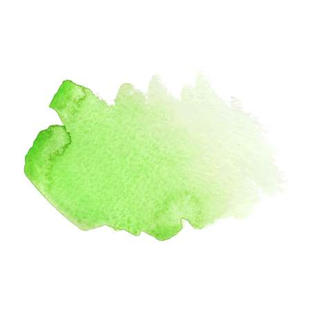 Green abstract watercolor brush strokes painted background. Texture paper. Vector illustration.