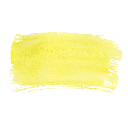 Yellow abstract watercolor brush strokes painted background. Texture paper. Vector illustration.