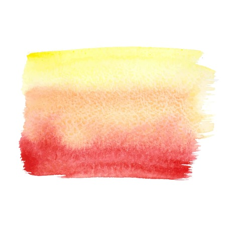 Orange-red abstract watercolor brush strokes painted background. Texture paper. Vector illustration.